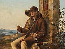 Eduard Biermann (1803-1892), Attr., The Trapper, Oil, 1868