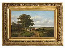 Verwée/Verboeckhoven, Landscape with Shepherd, Mid 19th C.