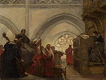 Jan Frans De Boever, Church Musicians, Painting, pres. c. 1900