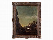 Michelangelo Cerquozzi (1602-1660), Attrib., Hunting Scene, Oil