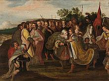 Circle of Frans Francken (1581-1642), Bible Story, pres. 17th C.