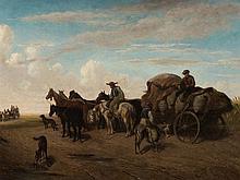 Heinrich Lang (1838-1891), Horse Carriage in Landscape, 1861