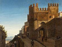 Heinrich Hansen (1821-1890), Toledo, Puerta del Sol, Oil, 1850