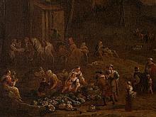 Peeter van Bredael, Market Scene, Oil Painting, c. 1700