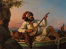 Wilhelm Nerenz (1804-1871), Neapolitan Musician, Italy, 1854