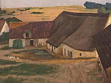 Carl Johann N. Piepho, Farm in Field Landscape, around 1900