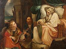 A. Sturm, Painting, The King and the Musician, 1885