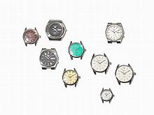 Seiko, Neun Watch Cases, Stainless Steel, Japan, 20 Century