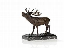 Rudolf Chocholka, Bronze Figure 'Capital Deer' Austria, 1920s