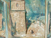 Wilhelm Kohlhoff, 'Window View on a Tower', around 1950