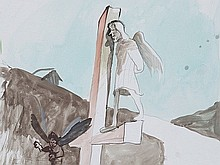 Siegfried Anzinger (born 1953), Watercolour with Pietà, 2011