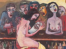 Mohamed Drissi (1946-2003), 'Erotic Bar Scene', late 20th C