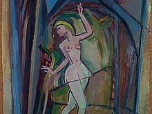 Walter Wellenstein, Oil Painting 'Prima Ballerina', 1956