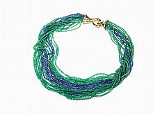 Hemmerle, Emerald & Sapphire Necklace with 800 Ct, 18K, c.2000