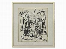 Alexander Schawinsky, Ink, Abstract Composition, USA, 1956