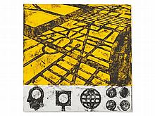 Matt Mullican, Serigraphy, Ideas on Yellow Ground, 1990