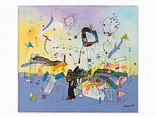 Krzysztof Rapsa, Abstract Composition, Painting, Poland, 1995