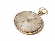 Golden Men´s Pocket Watch, Switzerland, Around 1820