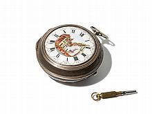 James Shearwood Silver Pocket Watch, England, Around 1760