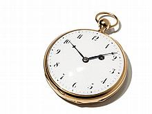 Gold Pocket Watch with ¼ Hour Repetition, France, Around 1900