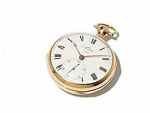 Gold Pocket Watch sign. Arnold, England, Around 1800