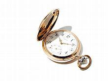 Longines Pink Gold Pocket Watch, Switzerland, Around 1900