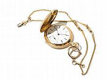 F. Sagne Golden Pocket Watch, Switzerland, Around 1900