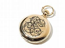 Golden Pocket Watch With Full Calendar, Around 1900