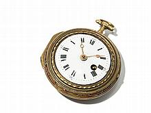 Julien Le Roy Gold Plated Pocket Watch, France, Around 1750