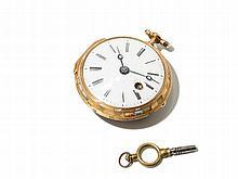 Eckherth Gold Pocket Watch, England, Around 1750