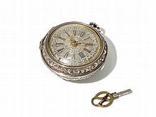 Johann Henner Silver Pocket Watch, Germany, Around 1740