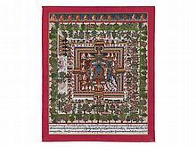"Detailed Medicinal Thangka ""Bhaisajyaguru"