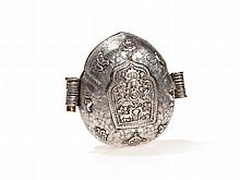 Silver and Copper Gau Amulet Box, Tibet, 19th Century