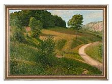 Adolf Helmberger (1885-1967), Painting 'Summer Landscape', 1912