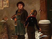 Friedrich Hiddemann (1829-1892), 'Ill-Humoured Kid', 1880s