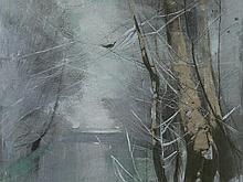 Karl Hagemeister (1848-1933), Painting 'Winter Stream', c. 1910