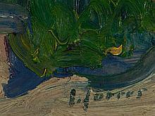 Carl Jörres (1870-1947), Oil Painting 'Farm in Oberende', 1908