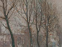 Hendrick Cassiers (1858-1944), Wintery Townscape, around 1900