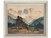 Georg Arnold-Graboné, Painting 'View on the Catinaccio', 1930