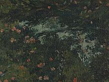 Amandus Faure, Oil Painting 'Oriental Garden', 1918