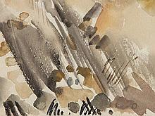 Edvard Frank (1909-1972), Watercolour 'Landscape', around 1930