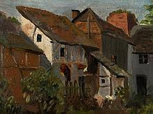 Adolph Menzel Circle, Oil Painting of a Backyard, c. 1850