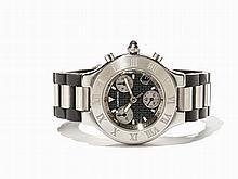 Cartier Chronoscaph Chronograph, Ref. 2424, Switzerland, C.2001