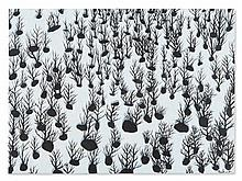 Fernand Roda, Black and White Painting 'In the Snow', 2007