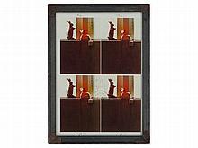 Joseph Beuys, Signed Colour Offset 'Auguren', 1982