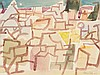 Eduard Bargheer (1901-1979) Watercolour 'Abstract Village' 1962
