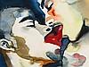 Rinaldo Hopf (b. 1955), Watercolour 'Kiss', Germany, 2000