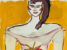 Elvira Bach (b. 1951), Mixed Media 'Strawberry Diva', 1993