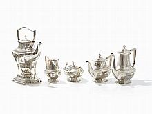 A 5-Piece Coffee & Tea Service with Warmer, Wallace, 19th C.