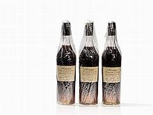 3 Bottles 1900 Baron de Lustrac, Armagnac
